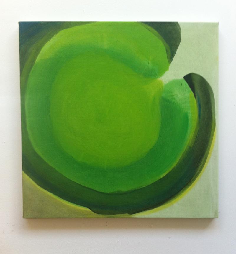 Ringfort 9. 50x50cm Oil on Canvas