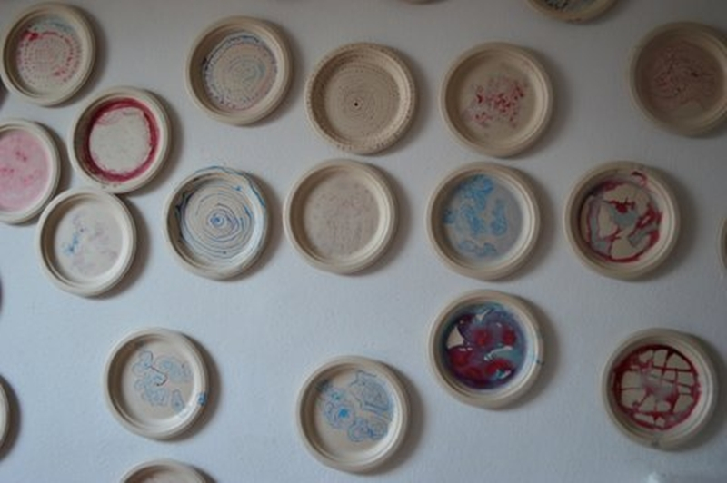 View from 40 ink on sugar cane fiber plates, 2013
