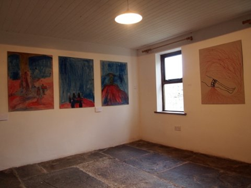 "View from ""Vulnerable"", ink and acrylic on card, 102cms x 76cms each, 2011"